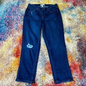 NWOT lane Bryant high rise straight crop jeans